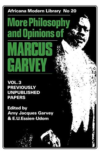 9780714640273: 3: More Philosophy and Opinions of Marcus Garvey (Africana Modern Library)