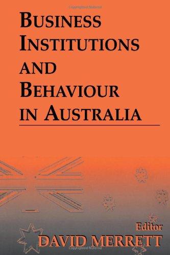 9780714649948: Business Institutions and Behaviour in Australia
