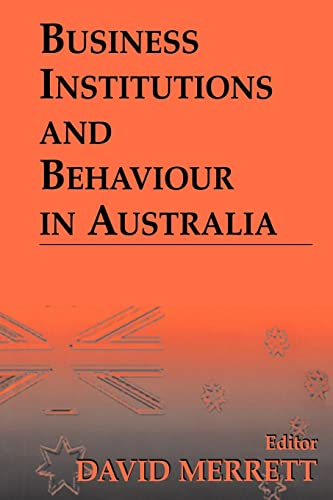 Business Institutions and Behaviour in Australia