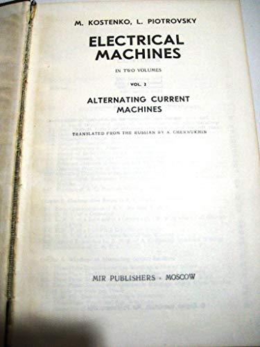 9780714700144: Electrical Machines: v. 2