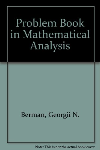 9780714710617: A Problem Book in Mathematical Analysis