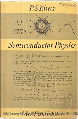 9780714712321: Semiconductor Physics. Second Edition