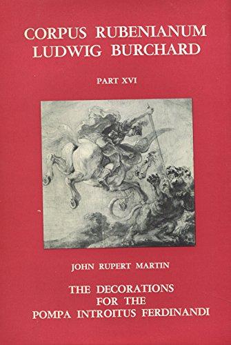 Corpus Rubenianum Ludwig Burchard - Part XVI: John Rupert Martin