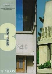9780714838694: Frank Lloyd Wright (Architecture 3s)