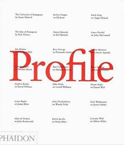 9780714843773: Profile. Pentagram design