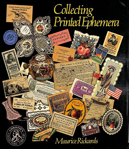 9780714880518: Collecting Printed Ephemera