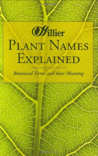 9780715321881: Plant Names Explained: Botanical Terms and Their Meaning