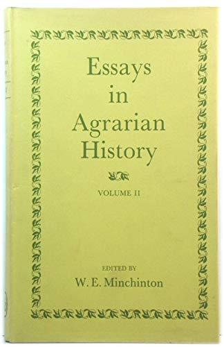 Essays in Agrarian History: Minchinton, W. E.;British