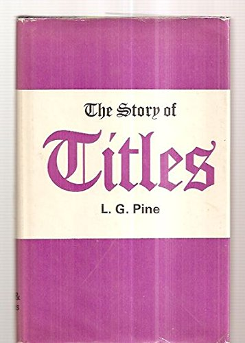 9780715346631: The Story of Titles