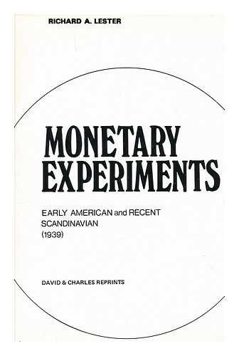 9780715348697: Monetary experiments, 1939: early American and recent Scandinavian