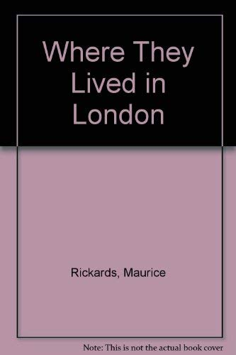 9780715352595: Where They Lived in London