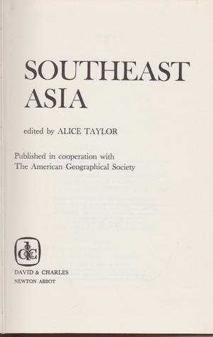 Southeast Asia: Taylor, Alice