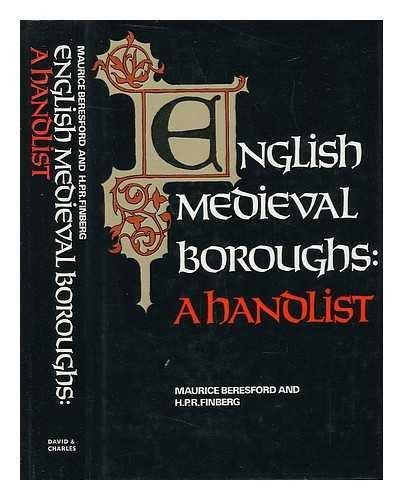 9780715359976: English Mediaeval Boroughs: A Handlist