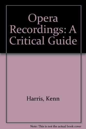 9780715363621: Opera Recordings: A Critical Guide
