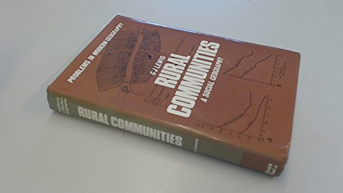 9780715377680: Rural Communities: A Social Geography (Problems in modern geography)