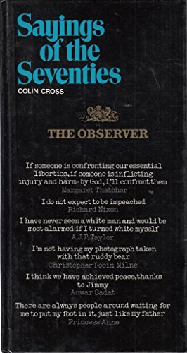 9780715379387: 'The observer' sayings of the seventies