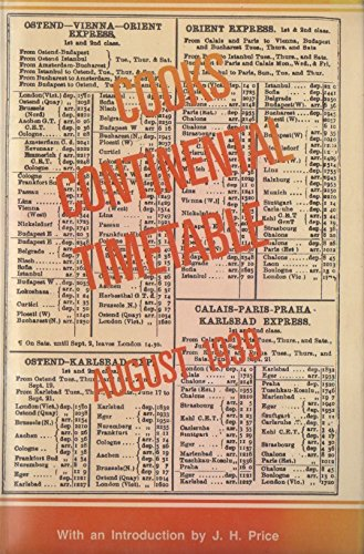 Cook's Continental Timetable: a new edition of the August 1939 issue