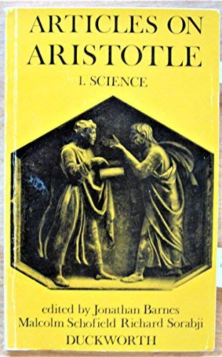 9780715607626: Articles on Aristotle: Science v. 1