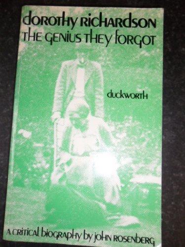 9780715608890: Dorothy Richardson: The Genius They Forgot
