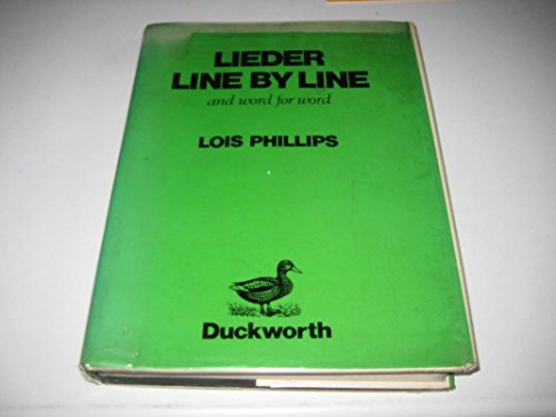 9780715609736: Lieder Line by Line: And Word for Word (English and German Edition)
