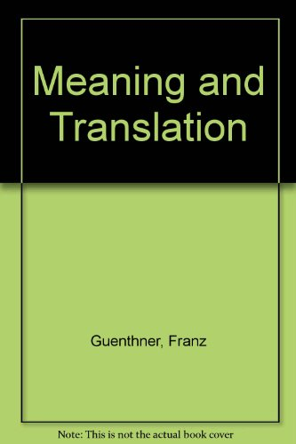 9780715610022: Meaning and Translation