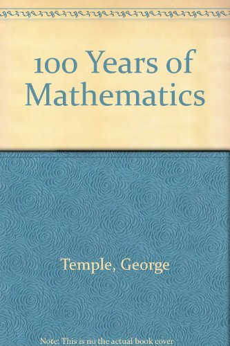 9780715611302: 100 Years of Mathematics