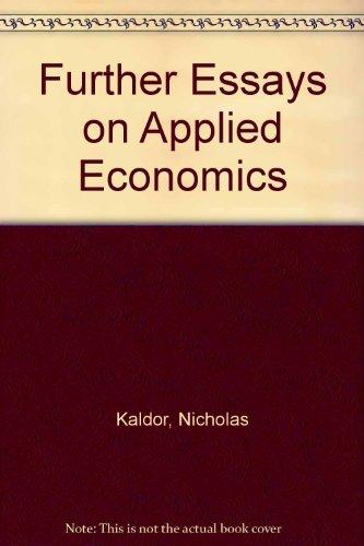 9780715616239: Further Essays on Applied Economics