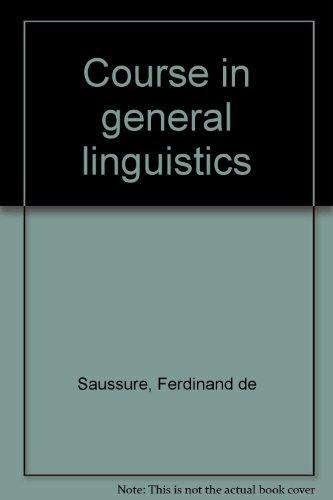 9780715617380: Course in general linguistics
