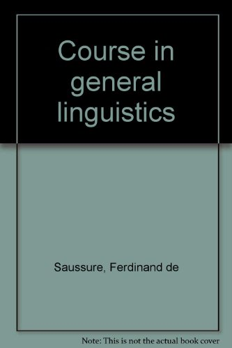 9780715617380: Course in general linguistics