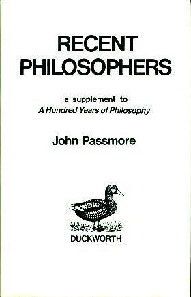 9780715618967: Recent Philosophers