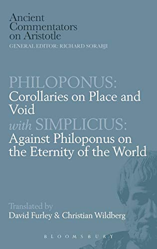 9780715622506: Philoponus: Corollaries on Place and Void with Simplicius (Ancient Commentators on Aristotle)