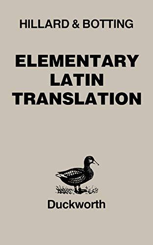 9780715623183: Elementary Latin Translation (Latin Language)
