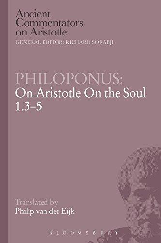 9780715633076: Philoponus: On Aristotle on the Soul 1.3-5 (Ancient Commentators on Aristotle)