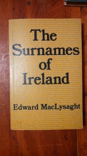 9780716522782: The Surnames of Ireland