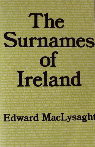 9780716523000: The Surnames of Ireland