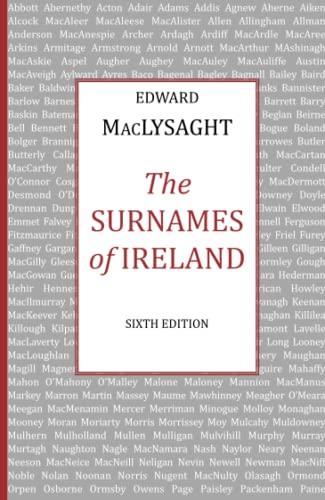 9780716523666: Surnames of Ireland