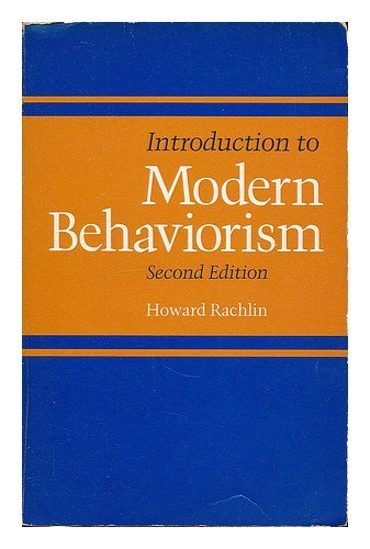 9780716704928: Introduction to Modern Behaviorism
