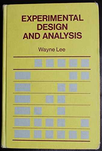 9780716707721: Experimental Design and Analysis (A Series of books in psychology)