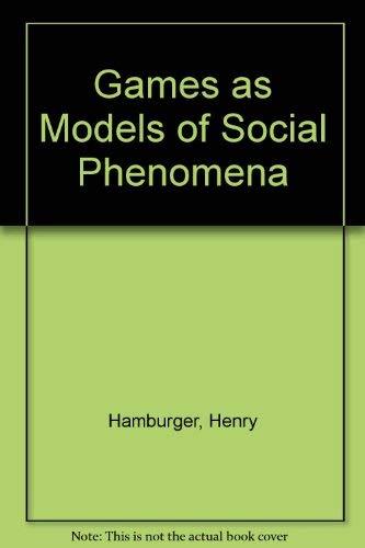 9780716710110: Games As Models of Social Phenomena