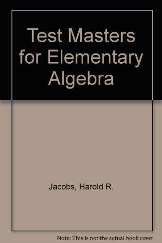 9780716710776: Elementary Algebra