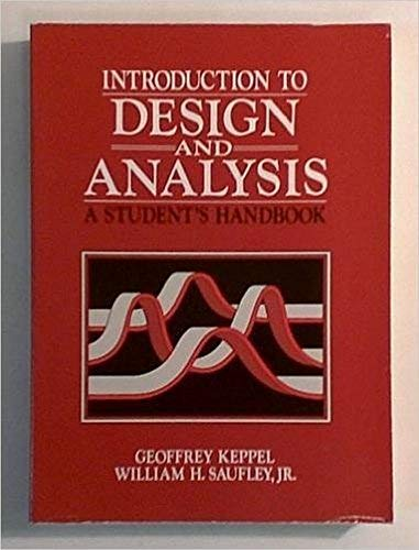 Introduction to Design and Analysis : A: Saufley, William H.,