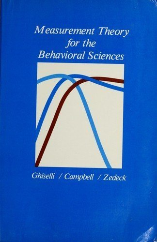 9780716712527: Measurement Theory for the Behavioral Sciences (Psychology Series)