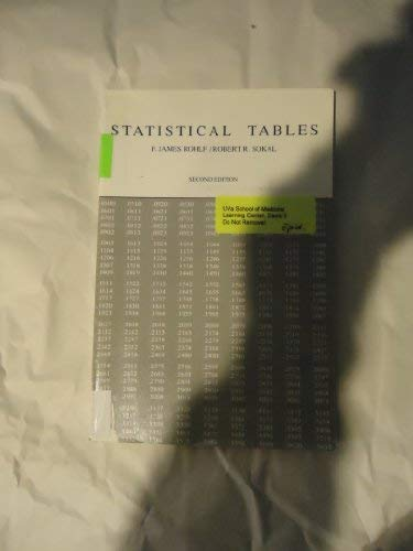 9780716712589: Statistical Tables