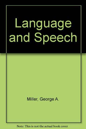 9780716712978: Language and Speech