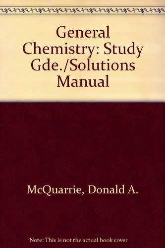 9780716718161: General Chemistry: Study Guide