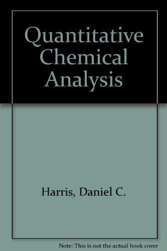 Quantitative Chemical Analysis  Abebooks