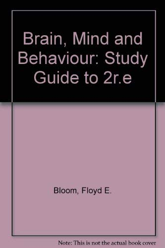 9780716718949: Brain, Mind and Behavior: Study Guide, Second Edition