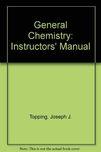 9780716720133: General Chemistry: Instructors' Manual