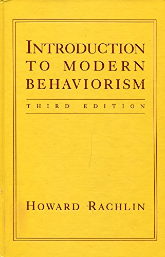9780716721017: Introduction to Modern Behaviorism