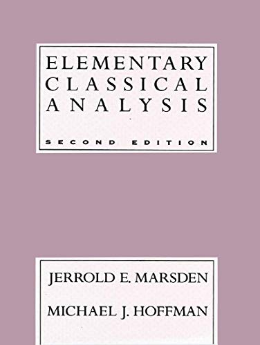9780716721055: Elementary Classical Analysis